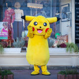 KIEV, UCRAINA - 17 SETTEMBRE 2016: Pokemon felice a Kiev Fotografia Stock