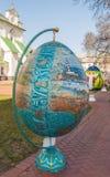 KIEV, UCRANIA - APRIL11: Pysanka - huevo de Pascua del ucraniano El exhi Fotos de archivo libres de regalías