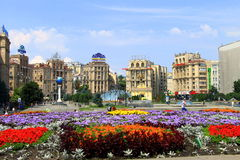 Kiev, Ucrania, cuadrado de la independencia, Maidan Imágenes de archivo libres de regalías