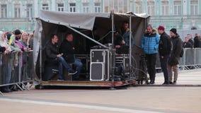 Kiev, Ucrania 19 de abril de 2019 Discusi?n presidencial 2019 del UA Estadio de Kiev Olympiyskiy metrajes