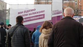 Kiev, Ucrania 19 de abril de 2019 Discusi?n presidencial 2019 del UA Estadio de Kiev Olympiyskiy