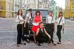 Kiev - Ucrania; 21 de abril de 2015: Mercedes-Benz G63 AMG en la ciudad vieja fotografía de archivo libre de regalías