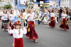 KIEV, UCRANIA - 24 de agosto de 2013 - día de Indipendence Fotos de archivo libres de regalías