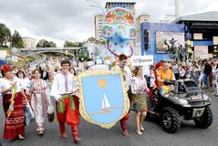 KIEV, UCRANIA - 24 de agosto de 2013 - día de Indipendence Fotografía de archivo libre de regalías
