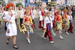 KIEV, UCRANIA - 24 de agosto de 2013 - día de Indipendence Fotos de archivo