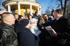 KIEV, UCRANIA - 29 de enero de 2016: En el día de los héroes de Kruty, Presid Fotos de archivo libres de regalías