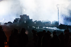 KIEV, UCRANIA - 24 de enero de 2014: Protestas antigubernamentales totales Fotografía de archivo libre de regalías