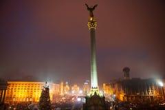 KIEV, UCRANIA - 1 de marzo de 2014: Revolución ucraniana, Euromaidan. imágenes de archivo libres de regalías