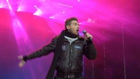 KIEV, UCRANIA - 10 DE MAYO DE 2017: Cantante Nathan Trent en la etapa la Eurovisión