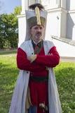 Kiev, Ucrania - 9 de mayo de 2018: Hombre bajo la forma de janissary imagen de archivo libre de regalías