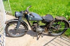 Kiev, Ucrania - 11 de mayo de 2019: Motocicleta vieja de DKW AUDI imagenes de archivo