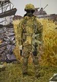 Kiev, Ucrania 24 de septiembre de 2015: Equipo militar XII Internationa Foto de archivo libre de regalías