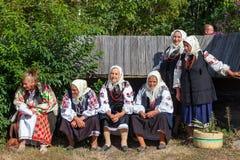 KIEV, UCRANIA - 18 DE SEPTIEMBRE DE 2016: mujeres mayores Imagen de archivo libre de regalías