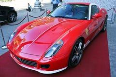 Kiev, Ucrania, el 13 de julio de 2015 Ferrari 599 Alonso Edition 60F1 fotografía de archivo