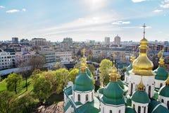Kiev, Ucrania Opinión panorámica de la ciudad sobre el centro Foto de archivo