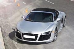 Kiev Ukraina; April 10, 2015 Audi R8 v10 arkivbilder