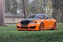 Kiev Ukraina; April 10, 2015 Bentley kontinental GT royaltyfri foto