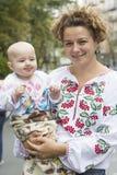 Kiev Ukraina - Augusti 24, 2013 beröm av självständighetsdagen Arkivfoton