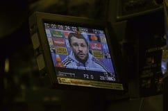 KIEV UKRAINA - DEC 06: Lagledare Sergei Rebrov under UEFA-chamen Royaltyfri Fotografi