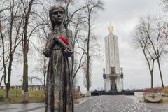 Kiev Ukraina - December 16, 2017: Monument till offren av Holodomoren Royaltyfri Bild