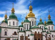 Kiev Ukraina Helgon Sophia Monastery Cathedral, UNESCOvärld honom Arkivbilder