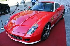 Kiev Ukraina, Juli 13, 2015 Ferrari 599 Alonso Edition 60F1 arkivbild