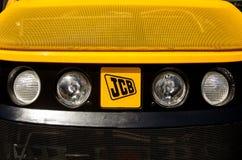 Kiev Ukraina Juni 6, 2018: Jcb-logo på tungt maskineri arkivbild