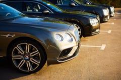 Kiev Ukraina - 14 Maj 2014: Bentley Motorsport firar öppningen av en ny återförsäljaremitt i Kiev Royaltyfria Foton