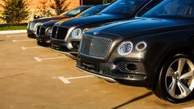 Kiev Ukraina - 14 Maj 2014: Bentley Motorsport firar öppningen av en ny återförsäljaremitt i Kiev Arkivbilder