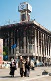 KIEV UKRAINA - Maj 12, 2014: Ukrainsk revolution Euromaidan Royaltyfri Foto