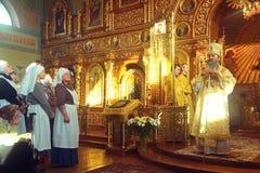 Kiev Ukraina, mars 12 2016 Storstads- av Kiev Onufry conduc Arkivfoton