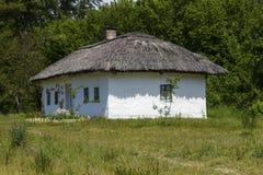 Kiev Ukraina -, May 2017: Museum av arkitektur i Pirogovo arkivfoto