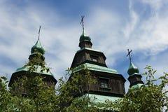 Kiev Ukraina -, May 2017: Museum av arkitektur i Pirogovo arkivbild