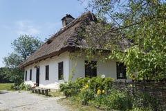 Kiev Ukraina -, May 2017: Museum av arkitektur i Pirogovo T arkivfoto