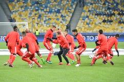 Kiev UKRAINA - OKTOBER 19, 2016: För fotbollcoachning för SL Benfica durin Arkivbilder