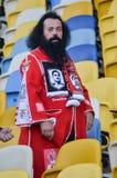 Kiev UKRAINA - OKTOBER 19, 2016: Portugisisk fanservice SL Benfica Royaltyfri Bild