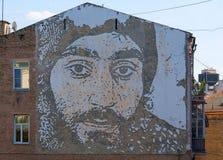 Kiev Ukraina - September 11, 2015: Stående av en hjälte Arkivbilder