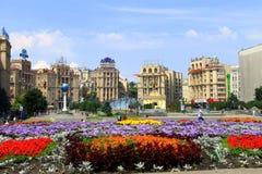 Kiev Ukraina, självständighetfyrkant, Maidan Royaltyfria Bilder