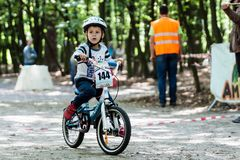 Young bikers at bicycle competition Royalty Free Stock Photo