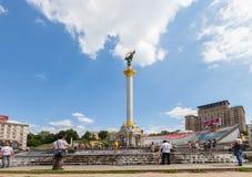 KIEV, UKRAINE 7 AOÛT : Maidan Nezalezhnosti le 7 août 2011 photos libres de droits