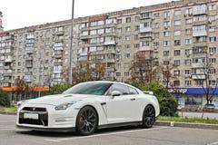 Kiev, Ukraine - 24 août 2017 : Nissan R35 GTR, supercar japonais dans la ville ukrainienne photos stock