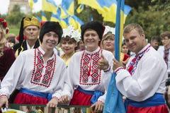 Kiev, Ukraine - 24 août 2013 célébration Image stock