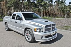 Kiev, Ukraine; April 10, 2015. Dodge Ram SRT-10 In The Park. Royalty Free Stock Image