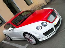Kiev, Ukraine - 11 April 2011; Bentley Continental GT Speed Bicolor red and white stock photo