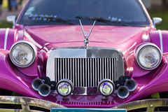 KIEV, UKRAINE - April 22, 2016: Close-up front of the car Limousine Excalibur Phantom.  Stock Photo