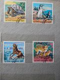 KIEV, UKRAINE - APRIL 16, 2019: Collection of postage stamps with animals stock photography