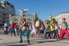 Kiev, Ukraine - April 29, 2016: Dance training on the Sofia area Stock Photos