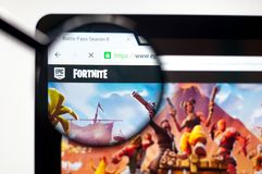 Kiev, Ukraine - april 5, 2019: Fortnite Battle Royale website homepage. Fortnite Battle Royale logo visible stock photo