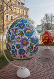 KIEV, UKRAINE - APRIL11 : Pysanka - oeuf de pâques d'Ukrainien L'exhi Photos stock