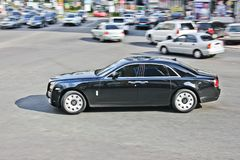 Kiev, Ukraine; April 11, 2013. Rolls-Royce Ghost in motion royalty free stock image